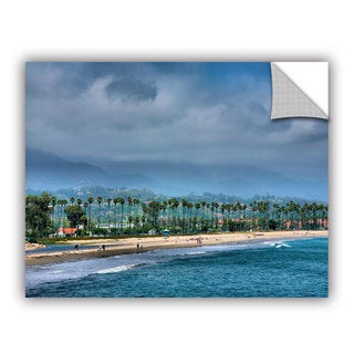ArtAppealz Steve Ainsworth 'The Beach At Santa Barbara' Removable Wall Art