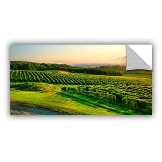 ArtAppealz Steve Ainsworth 'Hill-Top Vineyard' Removable Wall Art