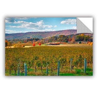 ArtAppealz Steve Ainsworth 'Vineyard In Autumn' Removable Wall Art