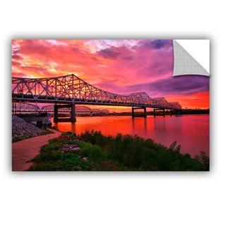 ArtAppealz Steve Ainsworth 'Bridges At Sunrise' Removable Wall Art