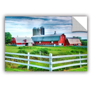 ArtAppealz Steve Ainsworth 'Red Barn, White Fence' Removable Wall Art