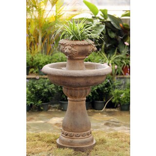 2-tier Lion Head Garden Water Fountain