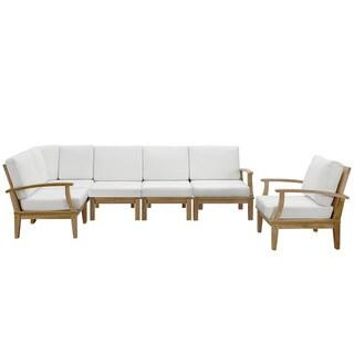 Quay 6 Piece Outdoor Patio Teak Sofa Set