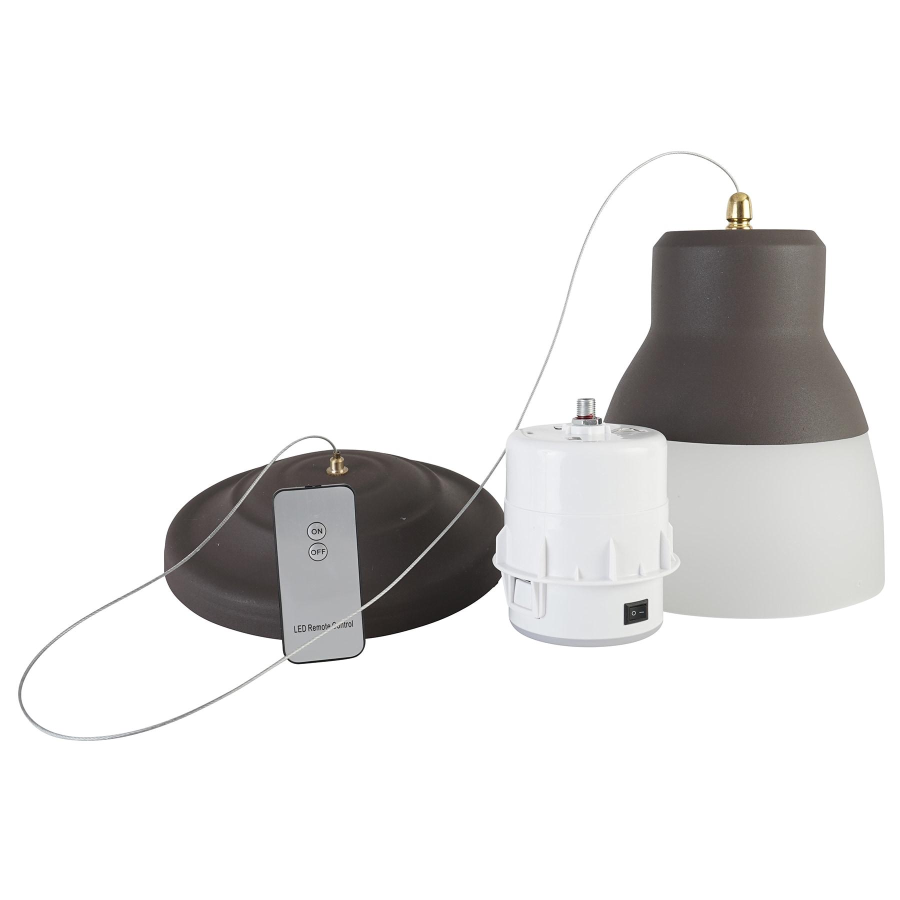 It S Exciting Lighting Iel 5891 Bronze Gl Led Battery Ed Pendant Light