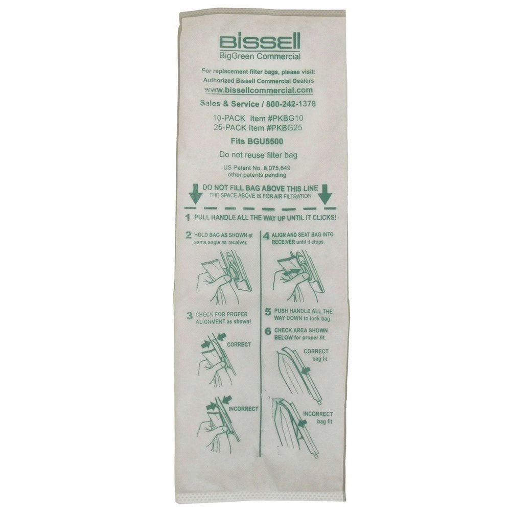 Bissell White Paper 6-quart Disposable Cleaner Bags for BGPRO6A Backpack Cleaner