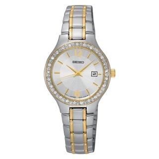 Seiko Women's SUR752 Stainless Steel Two Tone Watch