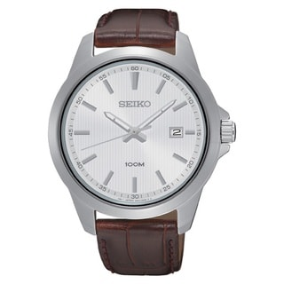 Seiko Men's SUR175 Stainless Steel Two tone Date Window Watch