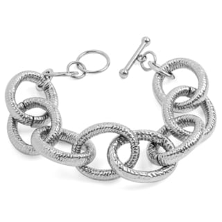 Women's Stainless Steel Large Link Bracelet