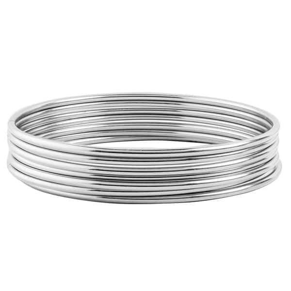 Sterling Silver Trinity Lock The Love Bangle Bracelet 7.5 inches