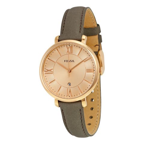 Fossil Women's ES3707 'Jacqueline' Grey Leather Watch
