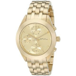 Marc Jacobs Women's MBM3393 'Peeker' Chronograph Gold-Tone Stainless Steel Watch|https://ak1.ostkcdn.com/images/products/10354920/P17463438.jpg?impolicy=medium