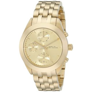 Marc Jacobs Women's MBM3393 'Peeker' Chronograph Gold-Tone Stainless Steel Watch