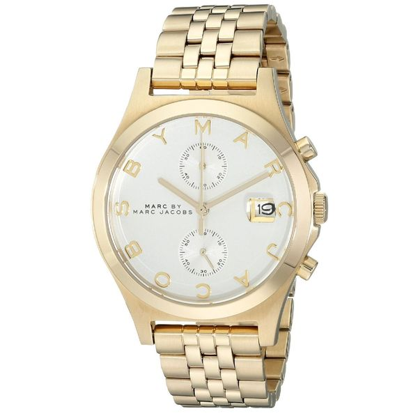 Marc Jacobs Women's MBM3379 'Ferus Slim' Chronograph Gold-Tone Stainless Steel Watch. Opens flyout.