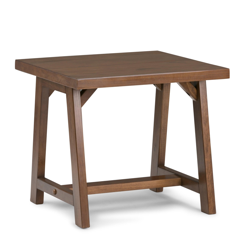 Wyndenhall Hawkins Solid Wood 22 Inch Wide Square Modern