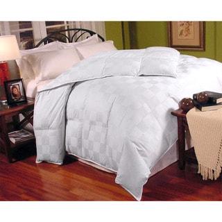 Italian Check 300 Thread Count Down Fiber Blend Comforter