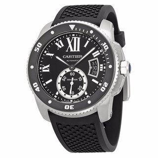 Link to Cartier Men's W7100056 'Calibre' Automatic Black Rubber Watch Similar Items in Men's Watches