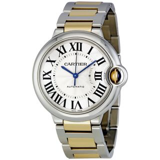 Cartier Men's W6920047 'Ballon Bleu' 18kt Yellow Gold Automatic Two-Tone Stainless Steel Watch