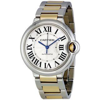 Cartier Men's W6920047 'Ballon Bleu' 18kt Yellow Gold Automatic Two-Tone Stainless Steel Watch