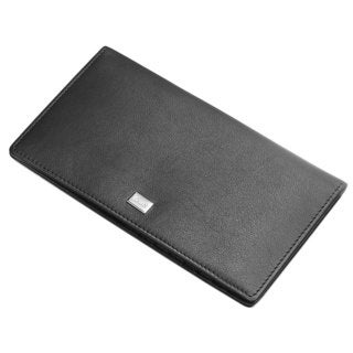 Caseti Edmund Black Leather Long Wallet
