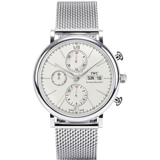 IWC Men's IW391009 'Portofino' Chronograph Manual Wind Stainless Steel Watch