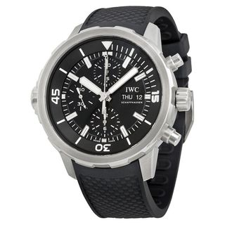 IWC Men's IW376803 'Aquatimer' Chronograph Automatic Black Rubber Watch