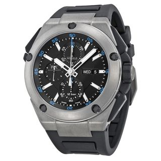 IWC Men's IW386503 'Ingenieur' Chronograph Automatic Black Rubber Watch