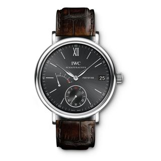 IWC Men's IW510102 'Portofino' Hand-Wound Chronograph Brown Leather Watch