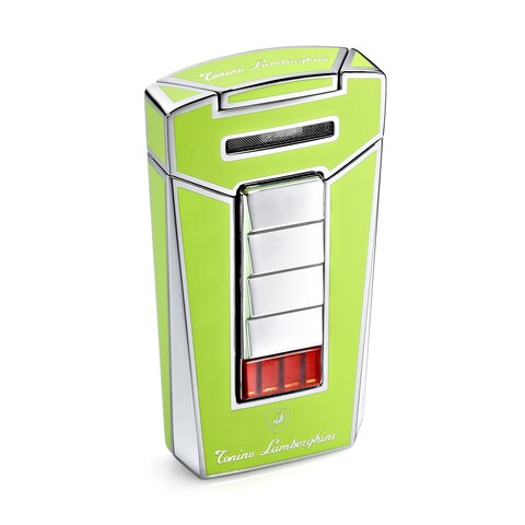 Tonino Lamborghini Aero Green Torch Flame Cigar Lighter (Ships Degassed)
