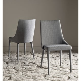 Safavieh Mid-Century Dining Summerset Linen Grey Side Chairs (Set of 2)