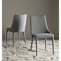 Safavieh Mid-Century Dining Summerset Linen Grey Dining Chairs (Set of 2)