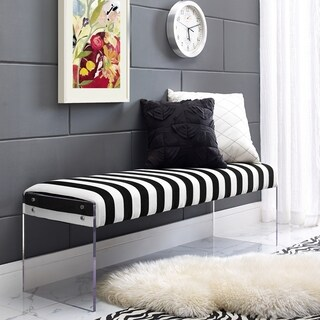 Envy Paris Velvet/ Acrylic Bench