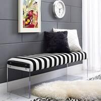 Envy Paris Velvet/ Acrylic Bench