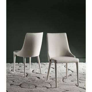 Safavieh Mid-Century Dining Summerset Modern Linen Beige Dining Chairs (Set of 2)