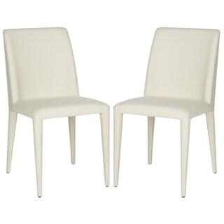 Safavieh Dining Mid-Century Garretson Linen Beige Dining Chairs (Set of 2)