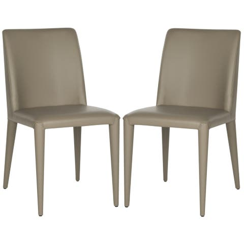 Safavieh Dining Mid-Century Garretson Taupe Dining Chairs (Set of 2)