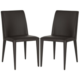 Safavieh Metropolitan Dining Garretson Brown Side Chairs (Set of 2)