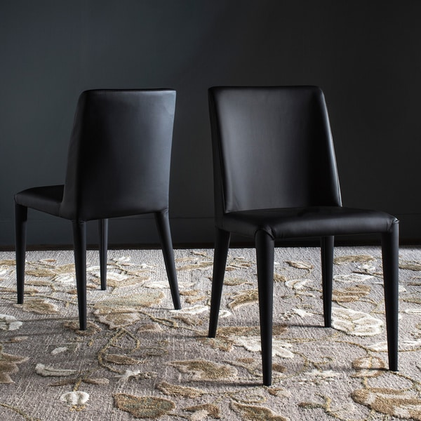 "Safavieh Dining Mid-Century Garretson Black Dining Chairs (Set of 2) - 22.5"" x 17.4"" x 33.5"""