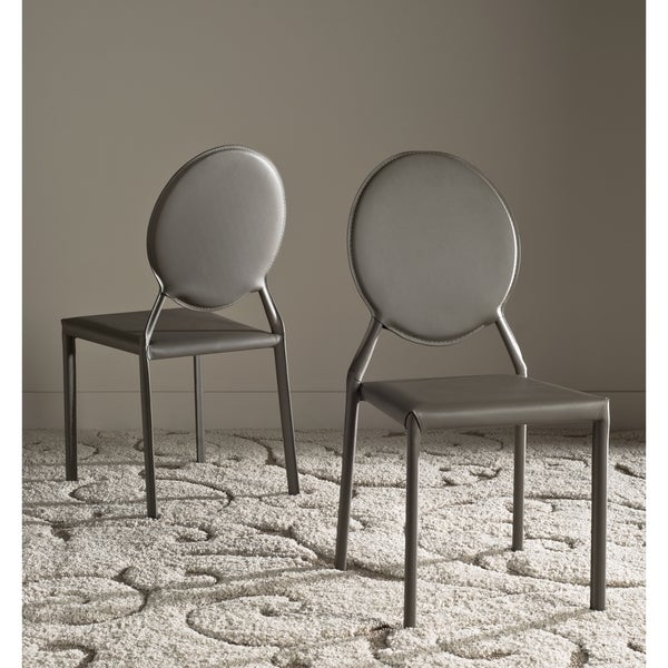 Safavieh Dining Mid-Century Warner Grey Dining Chairs (Set of 2). Opens flyout.