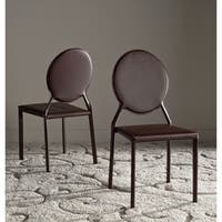 Safavieh Mid-Century Dining Warner Brown Dining Chairs (Set of 2)