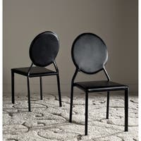 Safavieh Dining Mid-Century Warner Black Dining Chairs (Set of 2)