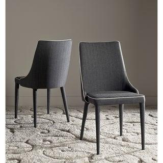 Safavieh Mid-Century Dining Summerset Modern Grey/ White Dining Chairs (Set of 2)