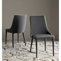 Safavieh Mid-Century Dining Summerset Modern Grey/ White Dining Chairs (Set of 2)