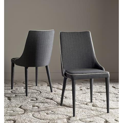 "Safavieh Dining Mid-Century Modern Summerset Grey / White Dining Chairs (Set of 2) - 23.6"" x 19.6"" x 35.5"""