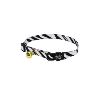 Coastal Pet Animal Prints Fashion Safe Cat Breakaway Collar (Option: White/Black)