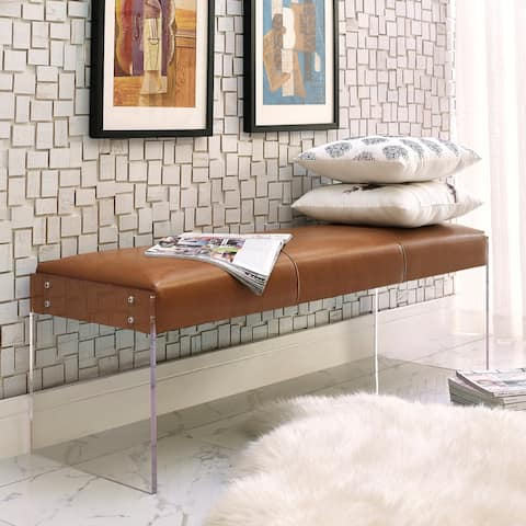 Envy Leather/ Acrylic Bench