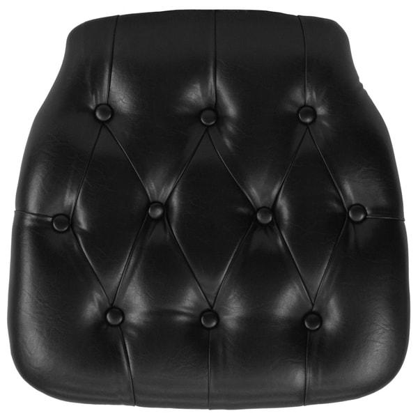 Charmant Hard Tufted Vinyl Chiavari Chair Cushion