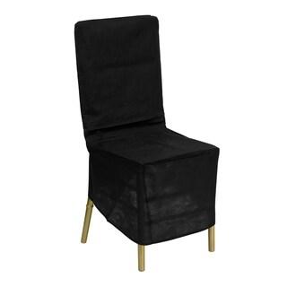 Black Fabric Chiavari Chair Cover
