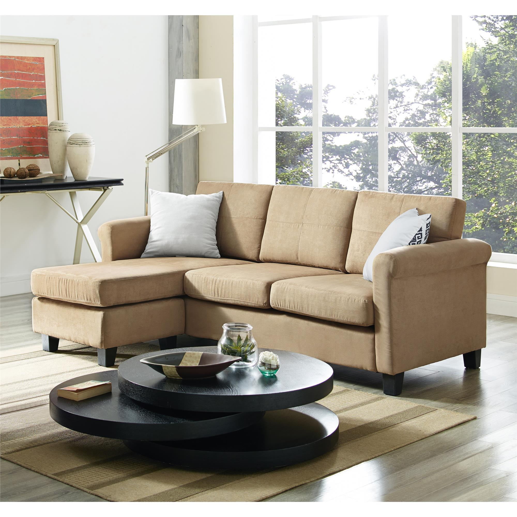 Beau Dorel Living Small Spaces Microfiber/ Faux Leather Configurable Sectional  Sofa