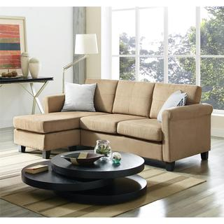 dorel living small spaces microfiber faux leather sectional sofa