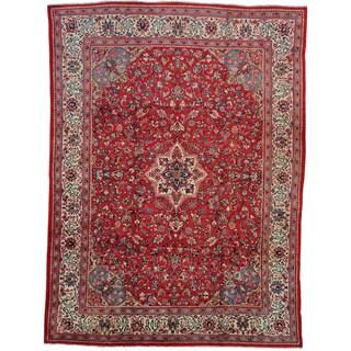 Handmade Wool Red Vintage Oriental Rectangle Rug (10' x 14')